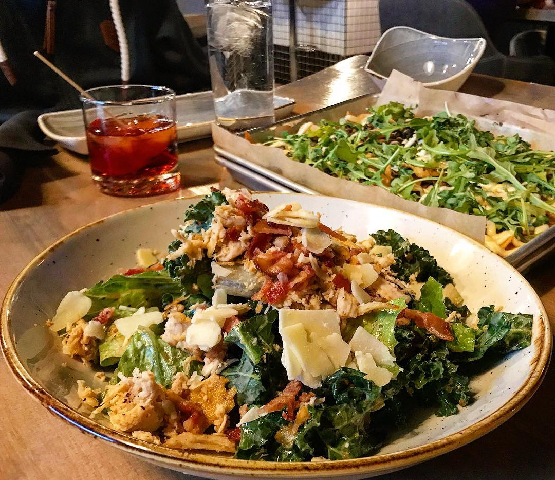 Crunchy Kale Caesar Salad