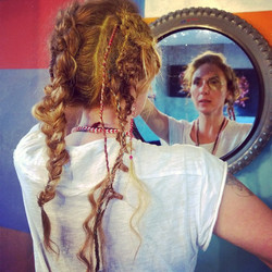 Wired festival hair