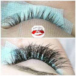I love creating sets of hybrid lashes be