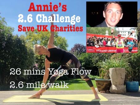 Annie's 2.6 DUO CHALLENGE to Save UK's Charities