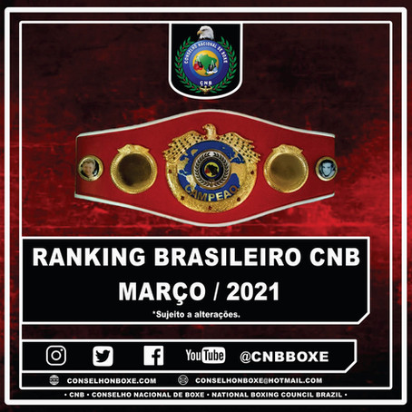 Ranking Brasileiro CNB - Março/2021