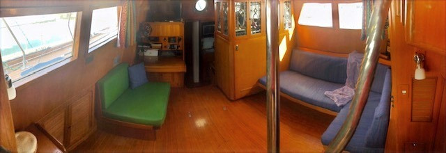 Main Salon from Companionway entrance