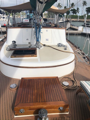 Bow looking Aft on Deck