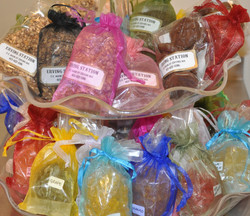 Organza bags filled with goodies