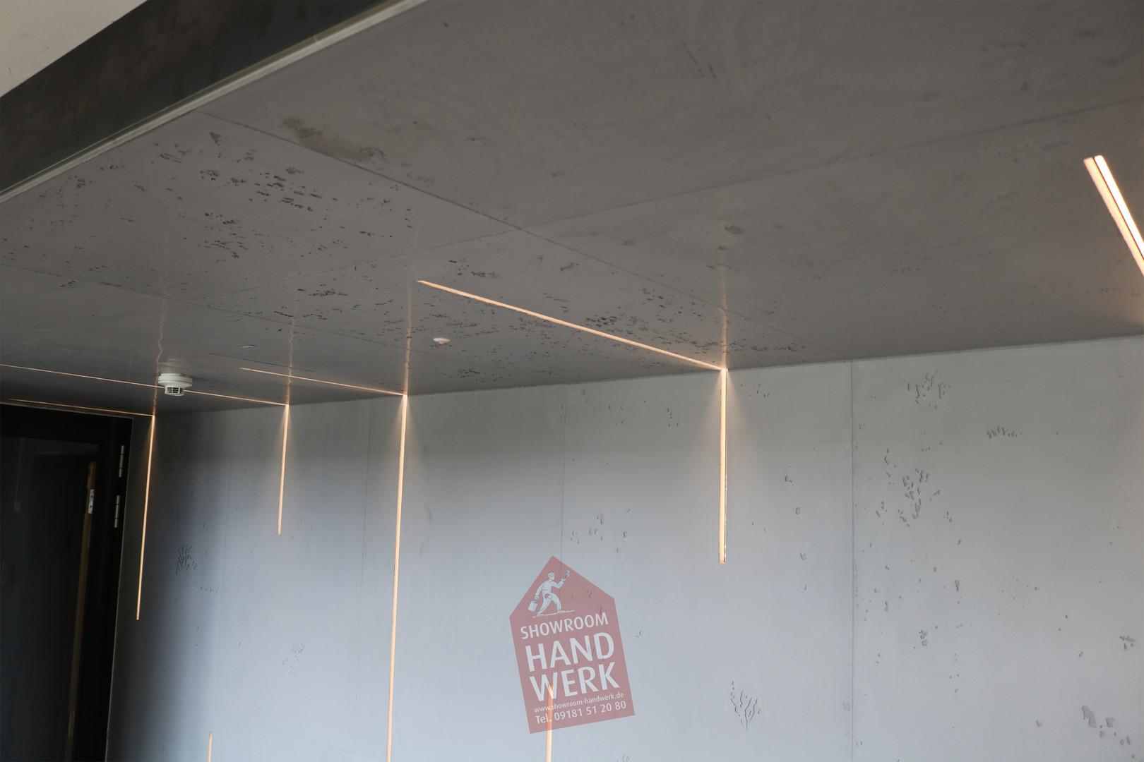 Betonoptik mit LED Beleuchtung