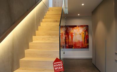 Gestaltung Treppe im Eingangsbereich