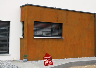 Rostoptik an Fassade