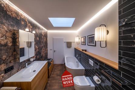 Dusche und Bad mit Tapete Ingolstadt