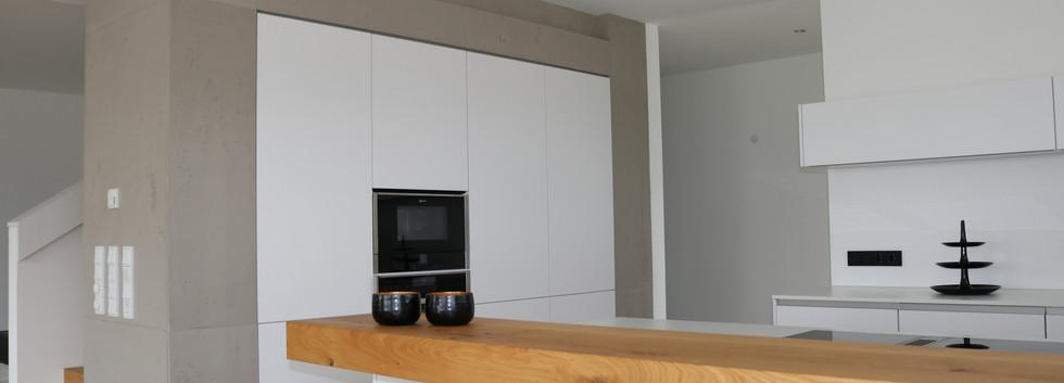 Betonwand in der Küche