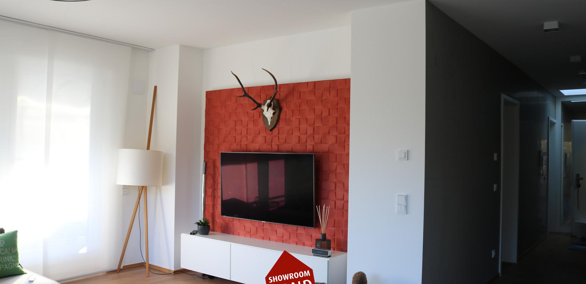 Designer Tapete im Wohnzimmer