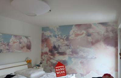 schöne Tapete im Schlafzimmer