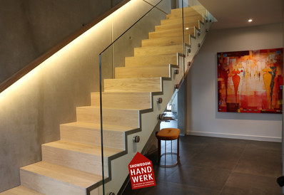 Beleuchtung an der Treppe