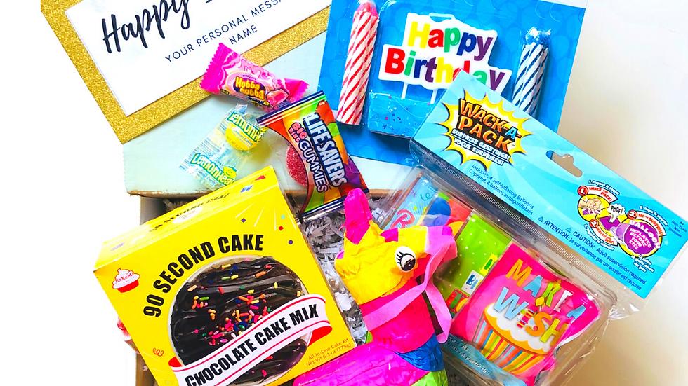 Happy Birthday Box with Classic Pinata