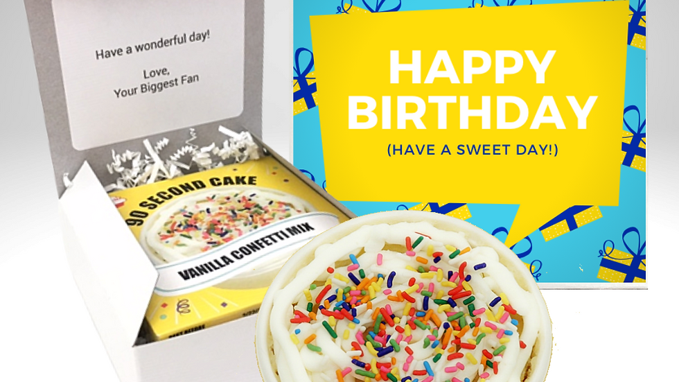 Sweet Day Birthday Cake Card
