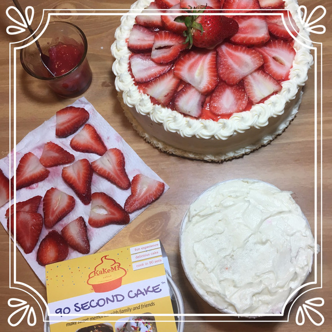 Delicious Strawberry Cake Filling or Topping