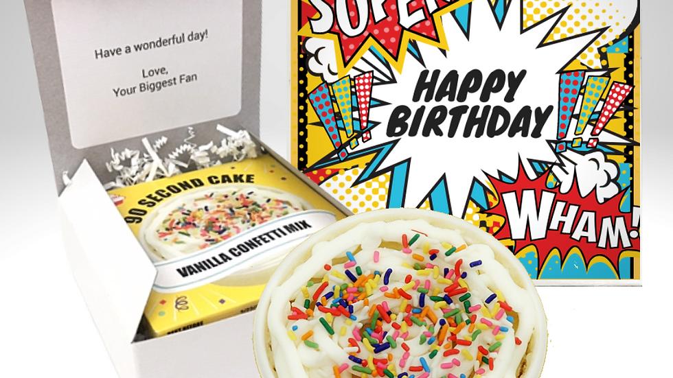 Comic Birthday Cake Card