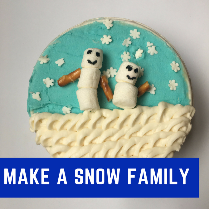 Snowman 90 Second Cake Design