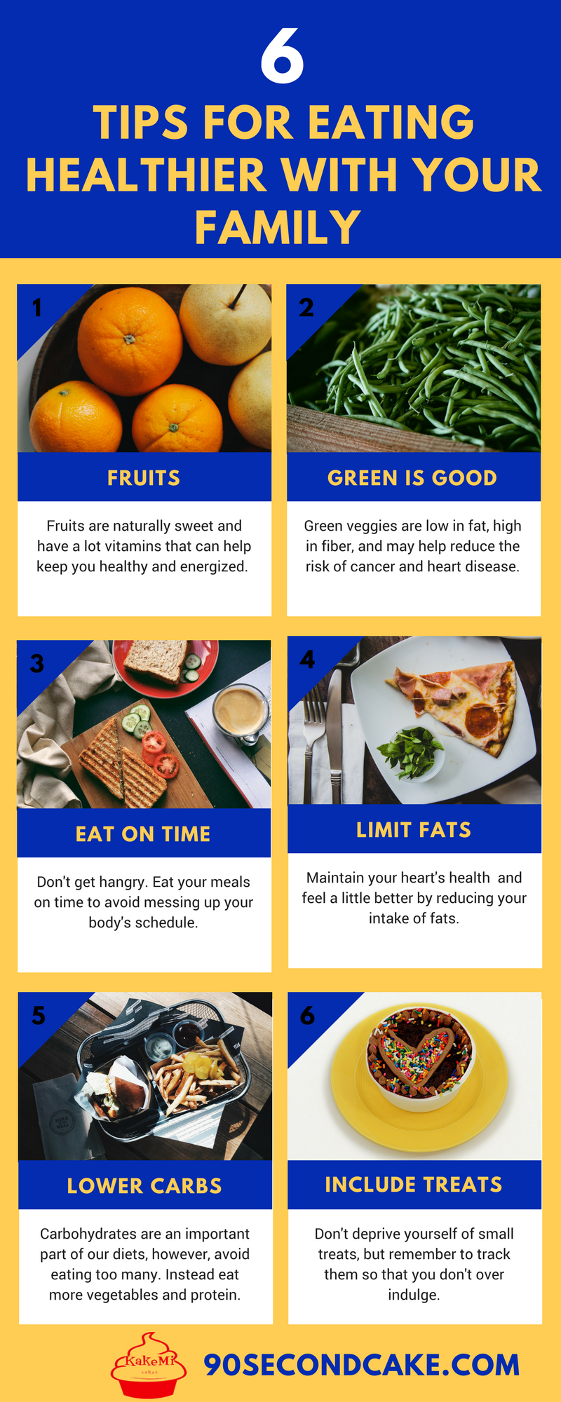 6 tips for eating healthier