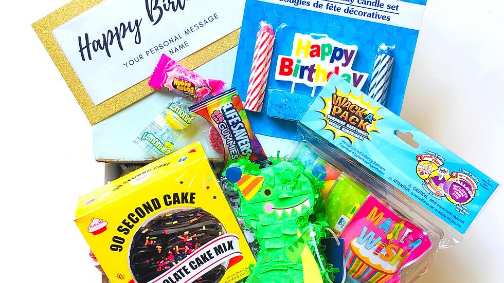Happy Birthday Box with Dino Pinata