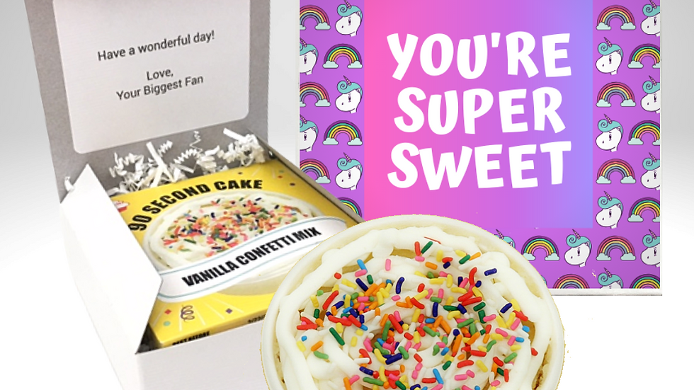 Super Sweet Unicorn Cake Card