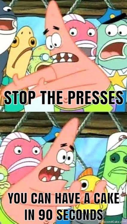 Sponge Bob Cake Meme