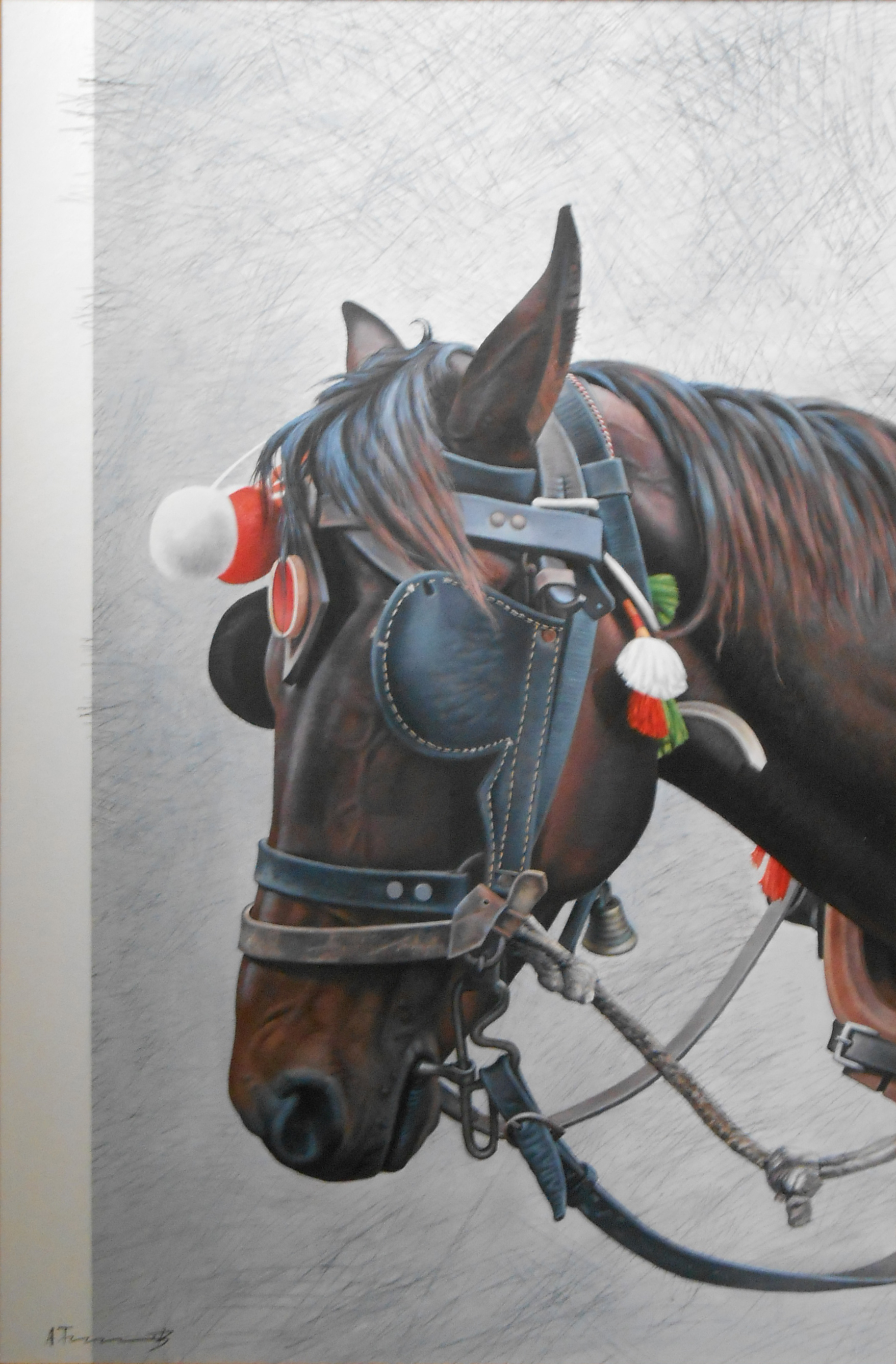 Horse Head with Blinkers