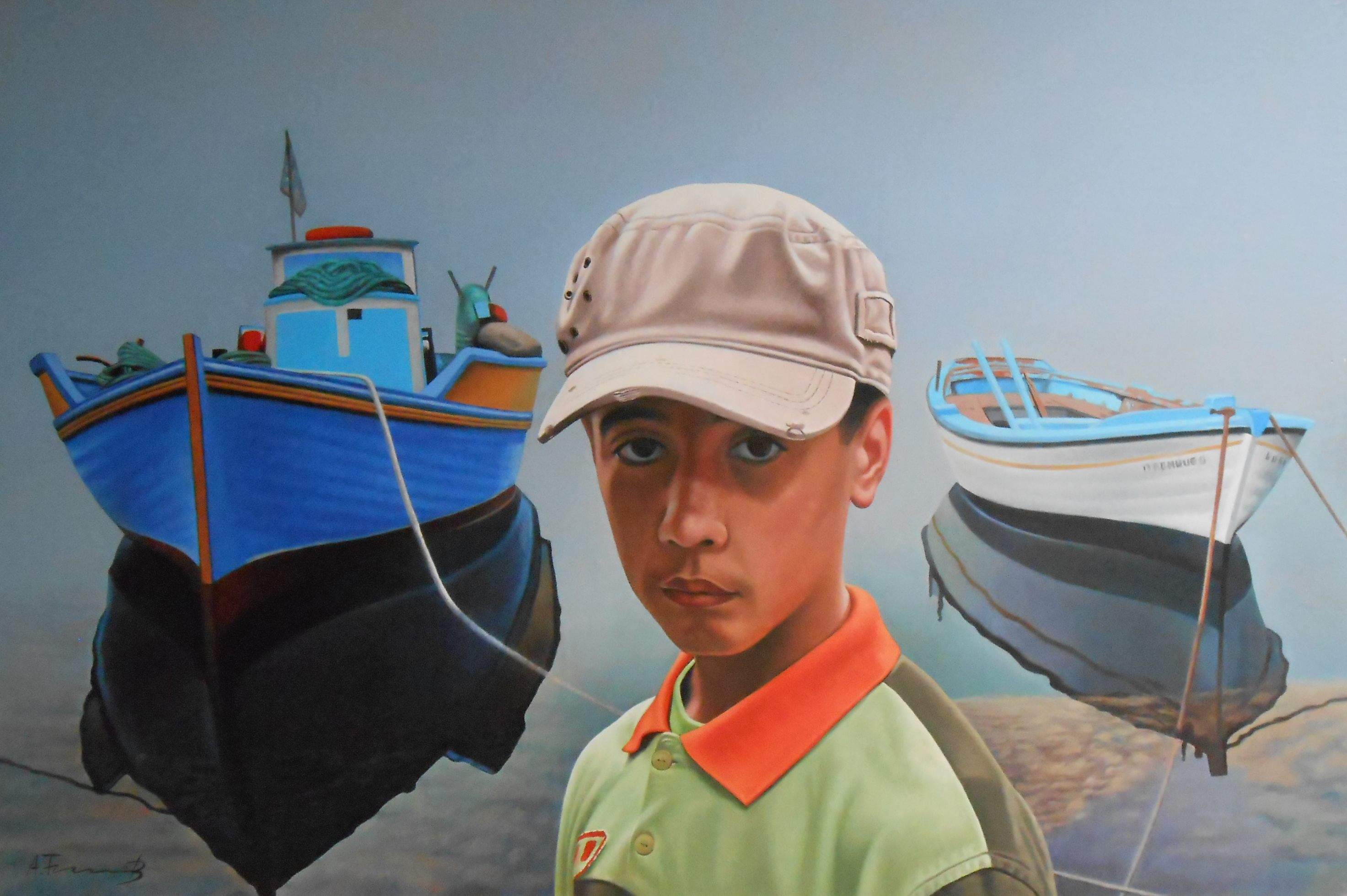 Portrait with Boats