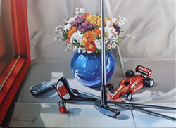 Still Life with Golf Clubs