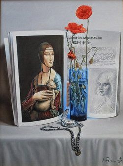 Lady with an Ermine in a Still Life