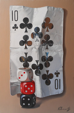Card with Dice