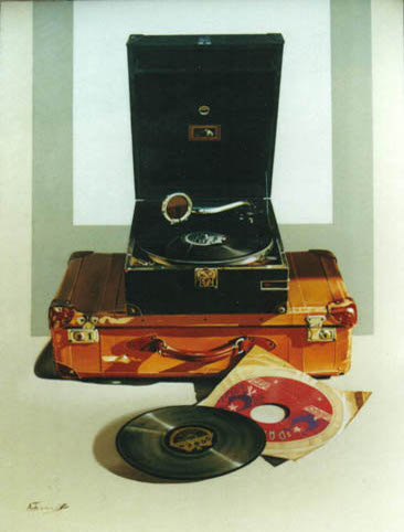 Gramophone on a Suitcase