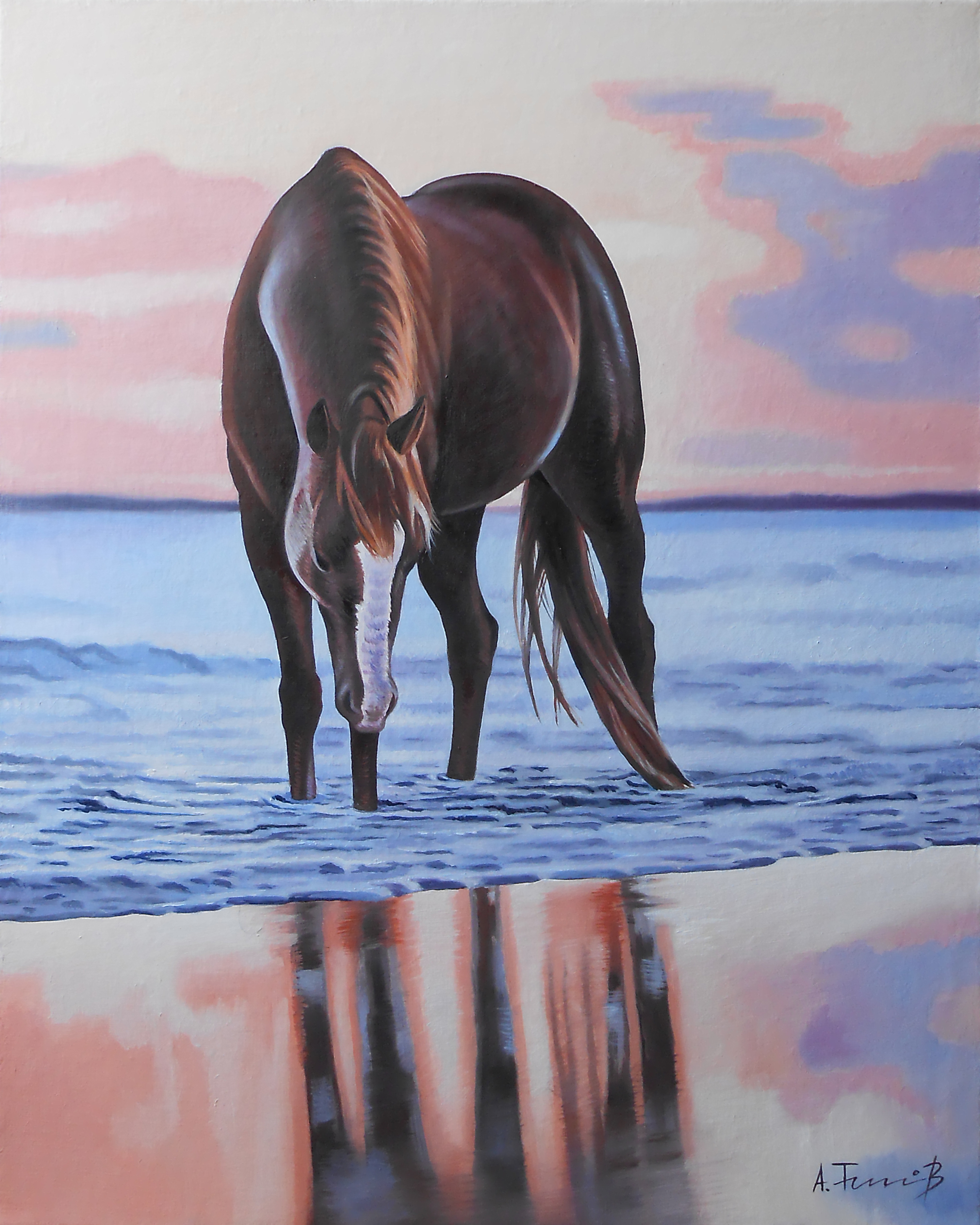 Seascape with Horse