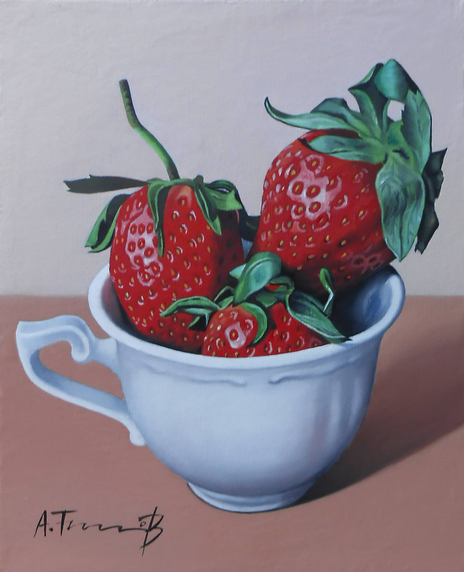 Strawberries in a Coffee Cup