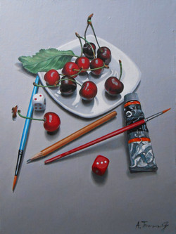 Cherries and Paintbrushes