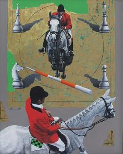 Jockeys in Red