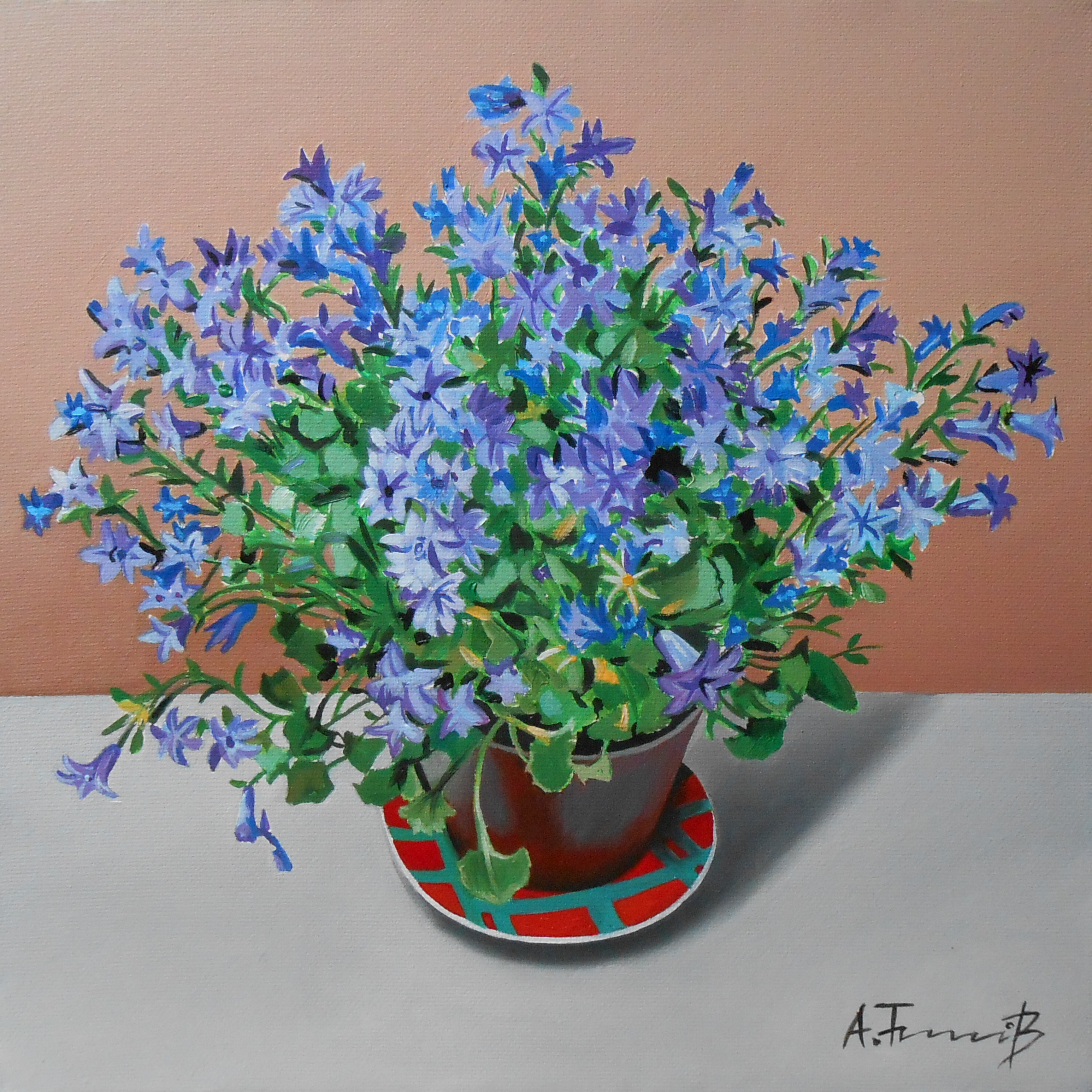 Still Life with Flowers in a Pot