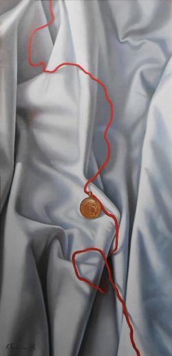 Coin on a Drapery