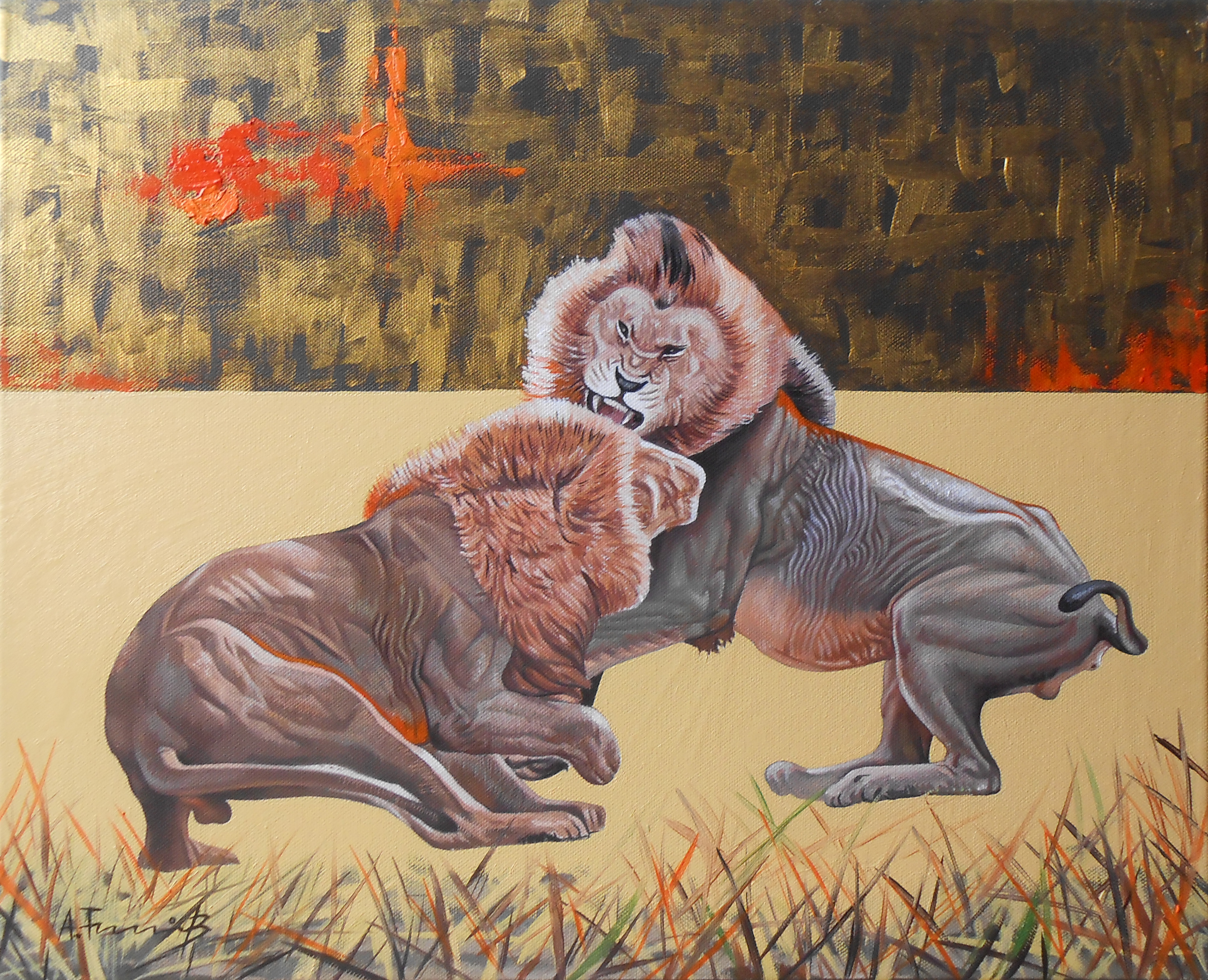 Lions Fighting 3