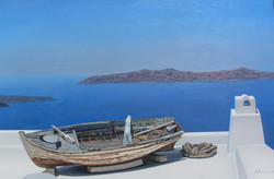 Seascape from Santorini