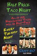 Craft 60 Ale House - Taco Night