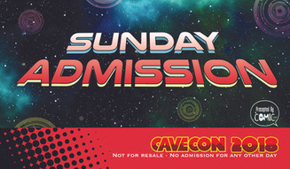 Cave Con Sunday Admissions Badge
