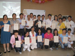 Certificate class graduates