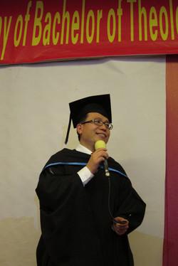 Student representative giving speech