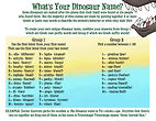 Mom Needs a Dinosaur! What's Your Dinosaur Name? Game