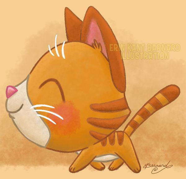 Happy Kitty Strut illustration by Erin Kant Barnard