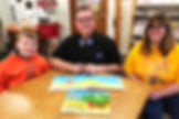 Anthony and The Barnards at the Mom Needs a Dinosaur! picture book debut!