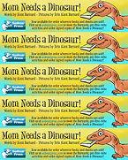 Mom Needs a Dinosaur! Raptor Bookmarks