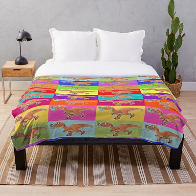 Mom Needs a Dinosaur! rainbow comforter