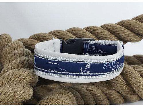Hundehalsband Sail Away  Silbergrau