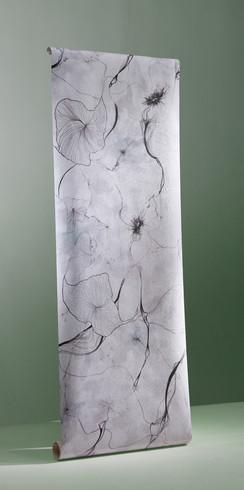 Lippy Flowers wallpaper (mono)